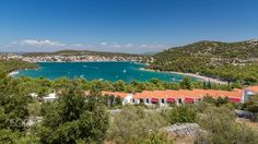 View of Tisno, Murter Island, Dalmatia, Croatia Dalmatia Croatia, Travel Guides, Travel Tips, Traveling By Yourself, My Photos, Around The Worlds, River, Island