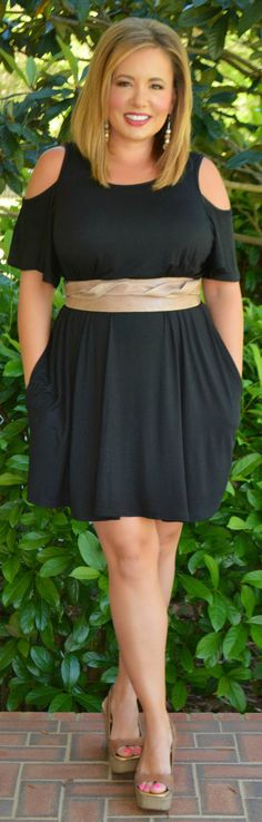 Perfectly Priscilla Boutique - On Birds Wings Dress - Black, $44.00 (http://www.perfectlypriscilla.com/on-birds-wings-dress-black/)