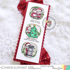 mama elephant   design blog: INTRODUCING: Santa Baby Christmas Cards, Merry Christmas, Christmas Ideas, Mama Elephant Stamps, Santa Claus Is Coming To Town, Elephant Design, Animal Cards, Santa Baby, Card Making Inspiration