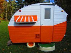 What a gem of a vintage caravan!