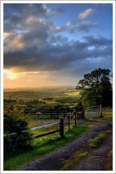 Evening in Rural Monmouthshire, Wales via flickr