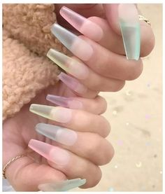 Sea Glass Nails: A Tendência das Unhas de Vidro MarinhoNail art is the art of nail decoration with its simple … Acrylic Nails Natural, Best Acrylic Nails, Acrylic Nail Designs, Nail Art Designs, Nails Design, Aycrlic Nails, Swag Nails, Manicure, Coffin Nails