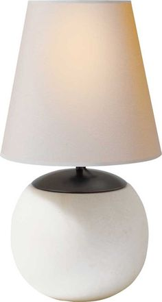 LARGE TERRI TABLE LAMP IN ALABASTER WITH BRONZE ACCENTS