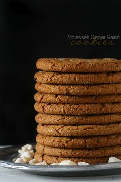Molasses ginger raisin cookies.
