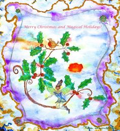 The Intuitive Art of Rika Dehombreux: Merry Christmas and Magical Holidays!