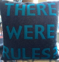 More pillows just arrived.  There were rules.  Really?  Like us on Facebook at Ami for details.