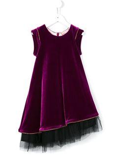 Junior Gaultier layered velvet dress