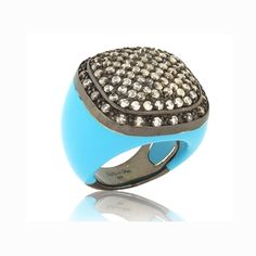 The Ultimate Cocktail Ring!!!  CALLAS Ring in Turquoise by Angelique de Paris