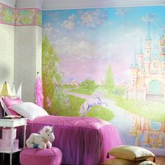 What little girl would not LOVE this wall mural?