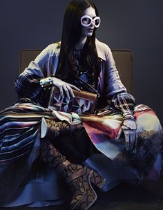 Dramatically layered kaleidoscopic prints in luxe fabrications are recapturing the romance of the hippie movement and updating it with urban panache. Styling by Damian Foxe. Photographs by Thomas Cooksey