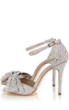 Crystal encrusted sandal |  | Silver wedding  | #EndoraJewellery - Custom Swarovski crystal and pearl wedding jewelry
