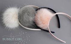 11035a6b699 Headbands for Girls Faux Fur Pom Pom Girls Headband Hair Faux Fur Pom Pom