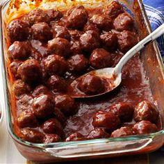 Meatballs in Plum Sauce Recipe -A tasty sauce made of plum jam and chili sauce coats these moist meatballs beautifully. Make sure these delightful appetizers are on your holiday menus. —Mary Poninski, Whittington, Illinois