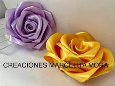 DIY- Como Hacer una Rosa Flor Liston Satin/ How to Make Rose RibbonРоза//クリップ簪/Fita Cetin - Free Online Videos Best Movies TV shows - Faceclips Satin Ribbon Flowers, Cloth Flowers, Beaded Flowers, Fabric Flowers, Paper Flowers, Diy Wedding Flowers, Diy Flowers, Ribbon Crafts, Flower Crafts