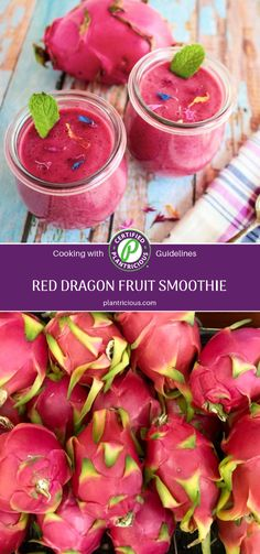 Turn to red dragon fruit to make this nutrient-rich, plant-based (vegan) smoothie in a jiffy, with only 4 ingredients. Vegan Smoothies, Fruit Smoothies, Red Dragon Fruit, Watermelon Flower, Carrot Flowers, Dragon Fruit Smoothie, Nutritious Meals, Plant Based Recipes