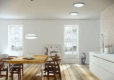 Riippuvalaisin ja plafondit classikot Circular Ceiling Light, Ceiling Light Design, Ceiling Lights, Kitchen Must Haves, Art Deco, Open Plan Kitchen, Furniture Decor, Home Remodeling, Kitchen Decor