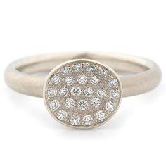 Mini Pave Petal Ring