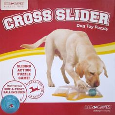 Cross Slider Interactive TREAT BALL HIDING PUZZLE Toy Problem Solving for Dogs