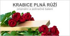 Krabice plná růží