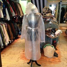 Transparent rain coat - size M/L - £24 #transparent #seethrough #clear #raincoat #tinthepark #glastonbury #festival #festival2014 #rockness #reddingandleedsfestival #wickerman #wickermanfestival #creamfields #twitter #instagram #1d #cute #retro #vintage #vintageguru #coat #mod