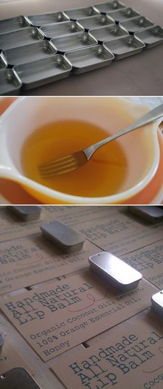 DIY honey lip balm   http://hiphome.blogspot.com/2012/01/all-natural-lip-balm.html?m=1