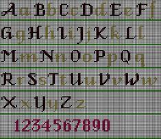 Fancy AlphabetStitch ... graphgans??