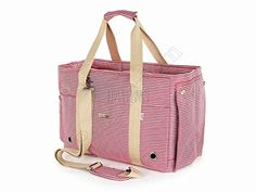 Petsmartpm 140RD Red and White Stripe Dog Carrier Purse Pet Carrier Bag Cat Tote Bag Puppy Handbag Doggy Cage *** You can get additional details at the image link.
