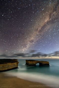 milky way, great ocean road, victoria, australia.