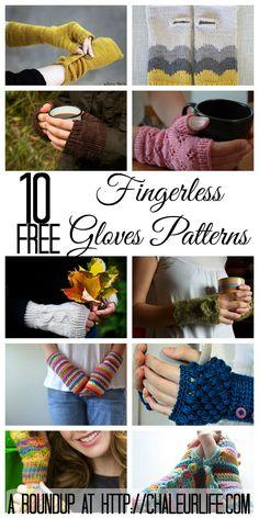 10 Free Fingerless Gloves Pattern to Knit and Crochet – Chaleur Life One Skein Crochet, Crochet Cowl Free Pattern, Crochet Kids Hats, Crochet Gloves, Irish Crochet, Knitting Yarn, Knitting Patterns, Crochet Patterns, Free Knitting