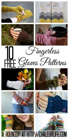10 Free Fingerless Gloves Patterns to Knit and Crochet