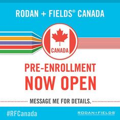 Be a part of something really HUGE.Rodan and Fields are the doctors who created Proactiv. They ARE now doing for aging skin what they did for acne. Canada pre-enrollment began Aug Rodan And Fields Canada, My Rodan And Fields, Rodan And Fields Business, Simply Life, Starting Your Own Business, Business Motivation, Travel Size Products, Good Skin