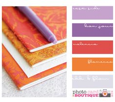 Purple and orange, would work great with Asian theme, methinks.