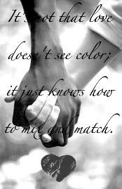 True love doesn't see color. Our eyes should see the Love Me Like, True Love, Dating Quotes, Relationship Quotes, Romance, Couple Quotes, Me Quotes, Interacial Love, Black And White Love