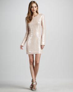 Diane von Furstenberg - Menaro Sequined Long-Sleeve Dress