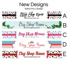 Etsy Banners  Etsy Store Graphics  New Etsy Shop by RhondaJai