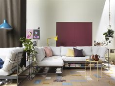 Welcome a sofa that you can make your own - EKEBOL sofa can be painted, dyed and personalised through the mesh and underside storage shelf. #IKEAnews #EKEBOL #sofa