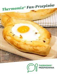 Chaczapuri adżarskie jest to przepis stworzony przez użytkownika Thermoprzepisy. Ten przepis na Thermomix<sup>®</sup> znajdziesz w kategorii Słone wypieki na www.przepisownia.pl, społeczności Thermomix<sup>®</sup>. Hot Dogs, Camembert Cheese, Asia, Ethnic Recipes, Kitchen, Food, Thermomix, Cooking, Kitchens