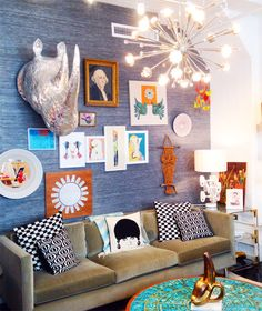 An inside look at @jonathanadler's happy-chic office. #forthehome