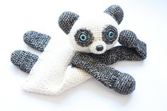 Who doesn't love to cuddle a cute little bear! You can use this pattern to make a Panda or use different colors and make it into a regular bear. Even though the body is flat like a lovey, this animal will leave much more room for imagination and be a best friend to toddlers and even older children.