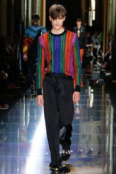 Ohhhh - these colours!!!! ----  - Balmain Spring 2017 Menswear Collection Photos - Vogue
