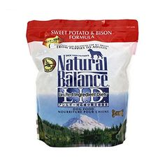 Natural Balance Sweet Potato and Bison Formula Dog Food, 5-Pound Bag -- Want additional info? Click on the image.