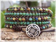 Beaded Wrap Bracelet Bohemian Seed Bead by AZJEWELRYBYELIZABETH