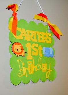 "Photo 2 of 17: Jungle Safari / Birthday ""Modern Jungle Safari First Birthday"" 