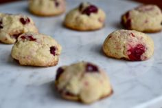 Cornmeal Cranberry Cookies -- gluten-free
