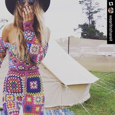 #Repost @wearitnshareit  see today's post on #crochetconcupiscence for more fabulous #Coachella #crochet  by kvercillo