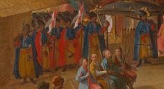 """Fragmenty obrazu Martino Altomonte """"Sejm elekcyjny 1697 roku"""" (Elekcja Augusta II). Źródło: Zamek Królewski w Warszawie. / Żupany chowane w szarawary."""