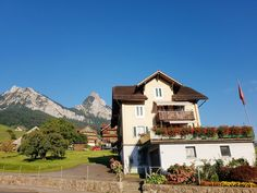 Just passing by when we had a motorcycle tour. Motorcycle Touring, Alps, Switzerland, Tours, Mountains, Mansions, House Styles, Beach, The Beach