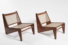 Kangaroo Stühle von Pierre Jeanneret, 2er Set 1