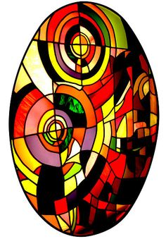 Stained Glass Window in Rome by Keith Richardson