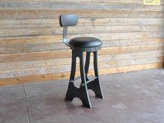 Upholstered A Frame Bar Chair | Vintage Industrial Furniture